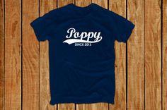 Poppy shirt T21 grandpa shirt daddy shirt by lptshirt on Etsy