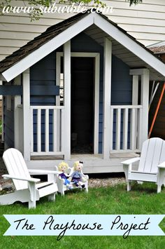 Blue and White Playhouse Project: Chairs for Lounging - Suburble