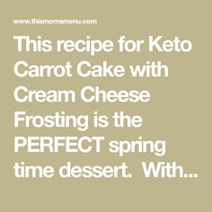 This recipe for Keto Carrot Cake with Cream Cheese Frosting is the PERFECT low carb dessert. With only 1 net carb per slice it's a great alternative to traditional carrot cakes. Cake With Cream Cheese, Cream Cheese Frosting, Low Carb Recipes, New Recipes, Paleo Recipes, Boneless Pork Ribs, Eating Carrots, Single Layer Cakes, Low Carb Deserts
