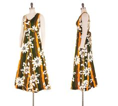 Ceire Blooms Maxi Dress / 1960s Vintage Hawaiian by NovaVintage
