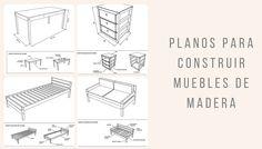 Planos para construir muebles de madera, sistema para guiar y asistir la autoconstrucción a través de manuales y planos con los procesos paso a paso.