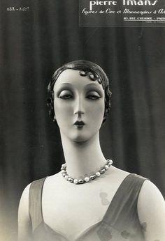 Манекены 1930-х - пугающая красота.Schaufensterpuppe Paris um 1930