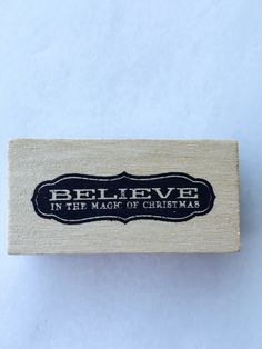 New- For Rubber Stamping and Handmade Cards Wood Mounted Rubber Stamp-- Believe in the Magic of Christmas by YourScrapbookingShop on Etsy