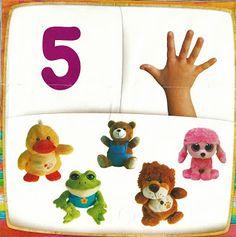 Rekenkaarten 1-10. Educação Infantil, Criatividade e Amor