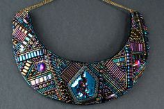 Necklace Galaxy by Beadski on Etsy