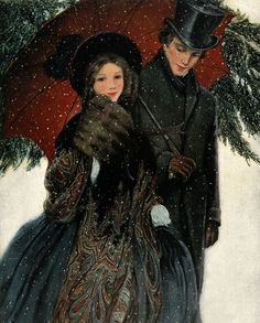 A Victorian Lady's Christmas Gift Guide Christmas Scenes, Christmas Past, Christmas Carol, Xmas, Vintage Christmas Cards, Vintage Cards, Vintage Images, Victorian Christmas Decorations, Illustration Noel