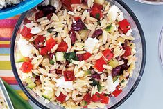 Mediterranean Orzo Salad. Make this when feta cheese is on sale or when you have fresh parsley in your garden.