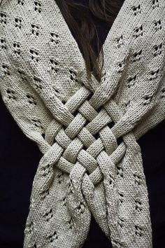 Cool detail on this knitted scarf.
