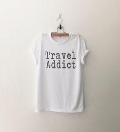 Travel shirt adventure shirt tshirt tumblr graphic tee shirts with saying teen gift for women summer funny t-shirts