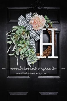 LIMITED QTY Pale Pink Hydrangea Grapevine Wreath by WreathDreams