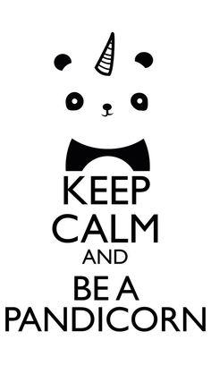 Pandicorn are half unicorn and half panda! Keep Calm Posters, Keep Calm Quotes, Panda Party, Cute Panda, Keep Calm And Love, Cute Drawings, Cute Wallpapers, Cute Animals, Cool Stuff