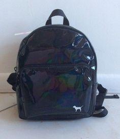 Black Victorias Secret PINK Mini Backpack With Summer Fun Logo Pins