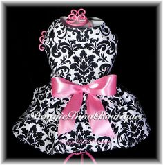 Dog Dress Couture Damask XXS XS or Small by DoggieDivaBoutique, $20.00