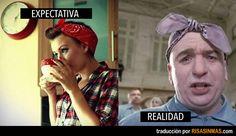Expectativa vs Realidad: bandanas o pañuelos para la cabeza.