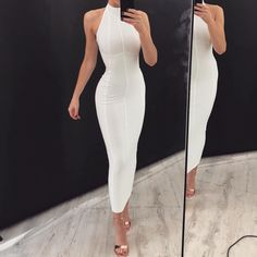 'Henley' Dress in Ivory White // www.boomboomthelabel.com