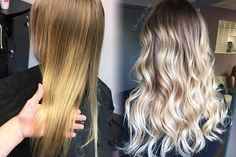 What a gorgeous transformation by @thebeautylounge_salon! To get the look, Caitlin root smudged with Redken Shades EQ equal parts 9nb+7nb and 8n+7n. She lightened with @redken5thave Flashlift 30 vol. and toned with equal parts 9gi+9v and clear Shades EQ. #hairstylist #hairdresser #blonde | Content shared via Salon Centric Gallery