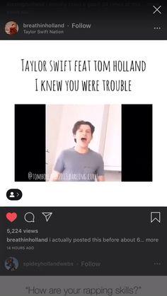 I hate Taylor Swift but I love Tom Holland Funny Marvel Memes, Marvel Jokes, Dc Memes, Avengers Memes, The Avengers, Funny Memes, Hilarious, Funny Videos, Funny Tom
