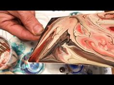 Acrylic Double Pour with PVA Glue (Got Cells Too) on Yupo Paper - YouTube