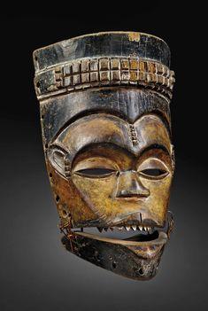 Ibibio Mask - Nigeria African Masks, African Art, African Sculptures, Art Africain, Masks Art, Michel, Tribal Art, Collection, Origins