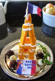 bastille day - didn't turn out like the pinterest version lol but fun to make