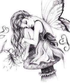 Fairy Drawings In Pencil Beautiful Fairy Drawings In Pencil - Drawing Art Library - Drawing Art Collection Beautiful Pencil Drawings, Pencil Art Drawings, Art Drawings Sketches, Pencil Sketch Images, Fairy Sketch, Images Noêl Vintages, Bauch Tattoos, Enchanted Fairies, Dark Fairies