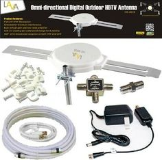 200 Mile 1080P 4K HDTV Outdoor TV Antenna Motorized Amplified 36dB 360° Rotation | New | $23.49 Diy Tv Antenna, Outdoor Hdtv Antenna, All Band, Ham Radio, Cable, Ps3, Startups, Digital, Lava
