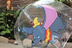 Dumbo the Flying Elephant Umbrella Hand Painted by KortneySunshine