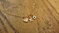 Gold filled Initial Necklace  Summer Jewelry  by KristinaKjewelry