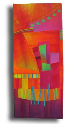 Melody Johnson: Art Quilts - Galleries - Urban Landscapes Stunning use of colour. This woman dreams in COLOR! Patchwork Quilting, Art Quilting, Quilt Art, Pintura Graffiti, Art Beauté, Creation Art, Quilt Modernen, Art Textile, Contemporary Quilts