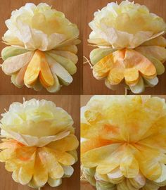 coffee-filter-flower-pom-pom-tutorial-photos ah ha finally im def going to be trying these out!