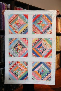 Scrappy String Quilt the workroom Toronto, ON November 2009 Jellyroll Quilts, Scrappy Quilts, Quilting Projects, Quilting Designs, Quilting Ideas, Crumb Quilt, String Quilts, Doll Quilt, Labor