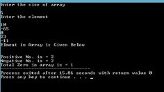 PROGRAMMING WITH C, C++ : Write A Program To Check Positive / Negative Numbe...
