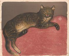 Théophile-Alexandre Steinlen Théophile-Alexandre Steinlen (French, 1859–1923). Winter: Cat on a Cushion, 1909. The Metropolitan Museum of Art, New York. The Elisha Whittelsey Collection, The Elisha Whittelsey Fund, 1950 (50.616.9) #cats