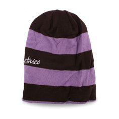 Made In Korea Unisex Beanie Acrylic Cotton Violet Stripe Ski Cap Hat, Men&Women #DreamTree #Beanie