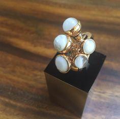 MelanO Twisted Tess ring gold and white #MelanO #twisted #ring #gold #white #jewelry