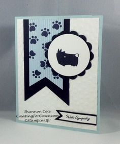 Stampin'Up! Pets on parade sympathy card