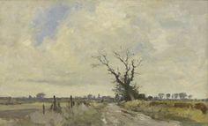 Edward Seago | Hall Fen Loke, Norfolk, oil