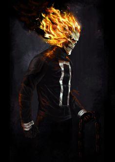 Ghost Rider Robbie Reyes by New Ghost Rider, Ghost Rider Marvel, Ghost Rider Wallpaper, Marvel Wallpaper, Screen Wallpaper, Marvel Comics Art, Marvel Heroes, Avengers Superheroes, Comic Book Characters