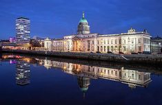 Liberty Hall And The Customs House - Dublin Print by Barry O Carroll Customs House, Dublin City, Fine Art America, Liberty, River, Photography, Fotografie, Political Freedom, Photograph