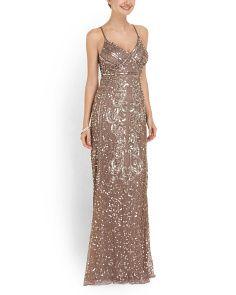 image of Sequin Mesh Gown