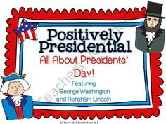 Presidents Day Literacy Packet Washington and Lincoln CCSS product from Teacher-Mom-Of-3 on TeachersNotebook.com