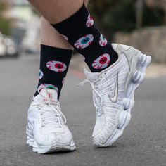 Have a look at our Eyeballs Socks. They're colourful and Eye Catching. Everyone will Ogle at you wearing these Eye Candies. You will definitely have a Glint in your eye wearing them and they won't leave you Red-Eyed. Hurry up and get yourself a pair, because they'll sell out in a Blink of an Eye. #designersocks #socks #happysocks #funsocks Funky Socks, Cool Socks, Air Max Sneakers, Sneakers Nike, Unique Socks, Sock Shop, Blink Of An Eye, Sport Socks, Happy Socks