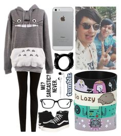 """hanging out with dan and phil #2"" by bayley-the-weird-fangirl ❤ liked on Polyvore featuring Vans, Luvvitt, Original Penguin, INDIE HAIR and Skullcandy"