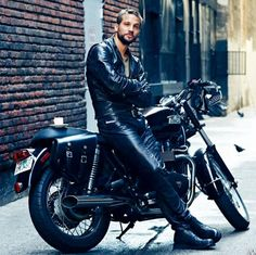 Logan-Marshall Green in black leather - if this guy was waiting for me I'd ride off anywhere with him. Damn.