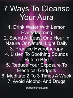 More cleanse my attitude. My aura is rockin
