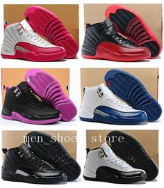 5a972286339ce9 12 XII Gym Red Wolf Grey Wings Flu Game Master French Blue University Blue  White Pink Men Women Basketball Shoes 12s Sneakers Womens Basketball Shoes  ...