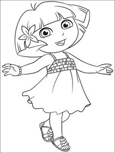 Soccer Dora the Explorer coloring pages Free Printable Coloring ...   314x236