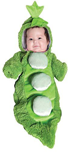 UHC Baby's Pea In A Pod Plush Bunting Infant Newborn Halloween Costume, OS >>> See this awesome image @