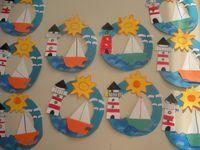 Best ocean art for kids crafts 31 ideas Boat Crafts, Ocean Crafts, Camping Crafts, Preschool Crafts, Kids Crafts, Arts And Crafts, Preschool Kindergarten, Summer Crafts For Kids, Art For Kids