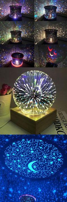 $1097 Mew Starry Sky Babysbreath Autorotation LED Night Light